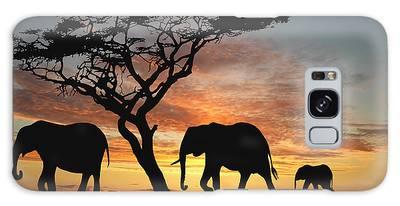 African Bush Elephant Galaxy Cases