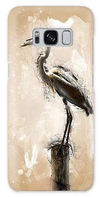 Heron On Post Galaxy Case