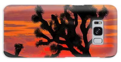 Joshua Tree At Sunset Galaxy Case