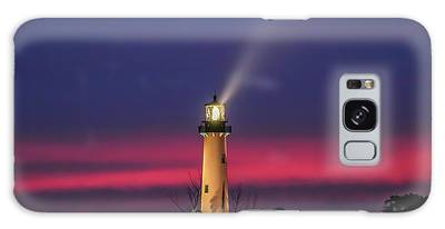 Galaxy Case featuring the photograph Jupiter Light Beam by Tom Claud