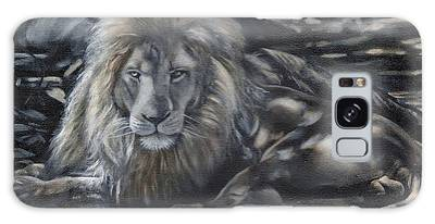 Lion In The Shade Galaxy Case