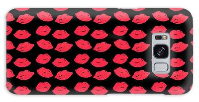 Galaxy Case featuring the digital art Lips by Bee-Bee Deigner