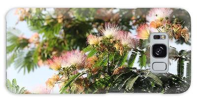 Mimosa Tree Flowers Galaxy Case