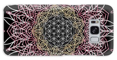 Galaxy Case featuring the digital art Moon Mandala by Bee-Bee Deigner