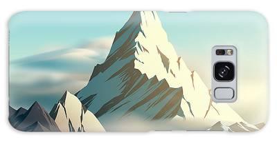 Blue Ridge Mountains Digital Art Galaxy Cases