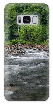 Mountain Stream In Summer #2 Galaxy Case by Tom Claud