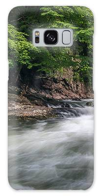 Mountain Stream In Summer #3 Galaxy Case by Tom Claud