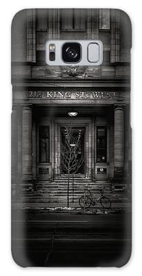 Galaxy Case featuring the photograph No 212 King Street West Toronto Canada by Brian Carson