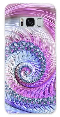 Galaxy Case featuring the digital art Opal Nautilus by Susan Maxwell Schmidt