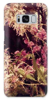 Galaxy Case featuring the mixed media Orchids In The Atrium by Susan Maxwell Schmidt