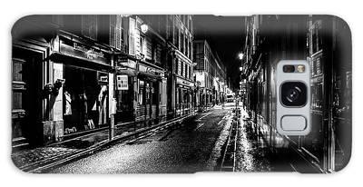 Paris At Night - Rue De Vernueuil Galaxy Case