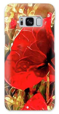 Galaxy Case featuring the mixed media Passionate About Poppies by Susan Maxwell Schmidt
