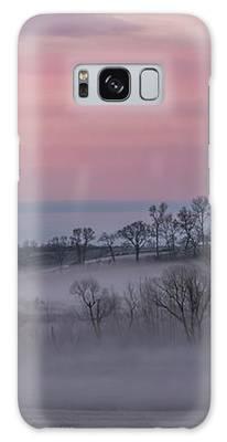Pink Misty Morning #3 - Misty Field Galaxy Case by Patti Deters