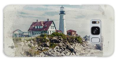Portland Head Lighthouse Cape Elizabeth Maine Galaxy Case