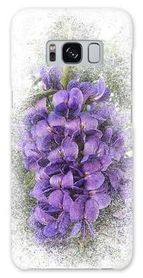 Purple Texas Mountain Laurel Flower Cluster Galaxy Case by Patti Deters