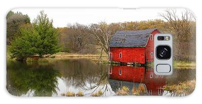 Red Barn Reflections Galaxy Case