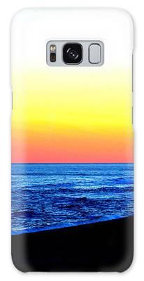 Sea Sunset Galaxy Case by Cynthia Guinn