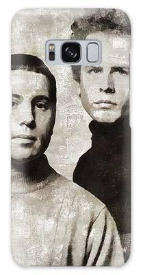 Simon And Garfunkel Paintings Galaxy Cases