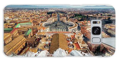 St Peter's Square From Top Of The Basilica Galaxy Case