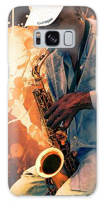 Street Sax Player Galaxy Case