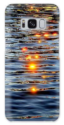 Galaxy Case featuring the photograph Sun Drops by Cynthia Guinn