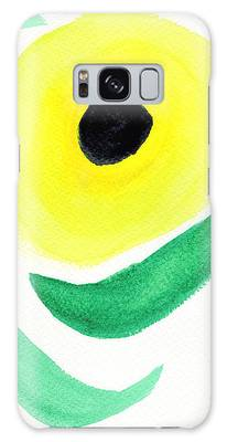 Galaxy Case featuring the painting Sunflower by Bee-Bee Deigner