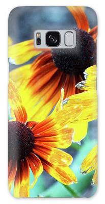 Sunflower Flame Galaxy Case by Cynthia Guinn