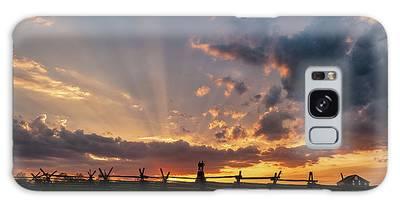 Sunrays At Sunset Galaxy Case