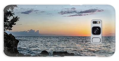 Sunset Afterglow In Negril Jamaica Galaxy Case