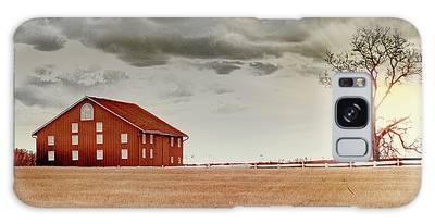 Sunset Barn Galaxy Case