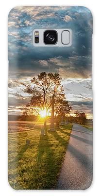 Sunset On The Field Galaxy Case