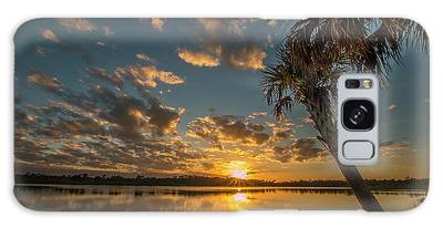 Galaxy Case featuring the photograph Sunset On The Pond by Tom Claud