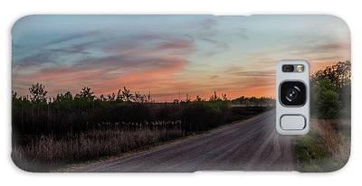 Sunset Road Galaxy Case
