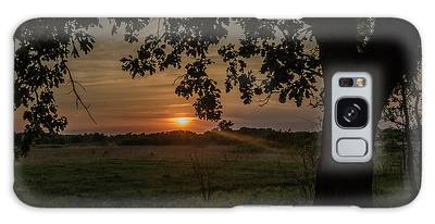Sunset Under The Tree Galaxy Case