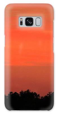 Tangerine Sunset Galaxy Case by Cynthia Guinn
