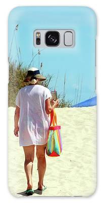 Time Away At The Beach Galaxy Case by Cynthia Guinn