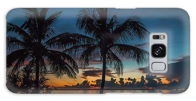 Galaxy Case featuring the photograph Twin Palms Sunrise by Tom Claud