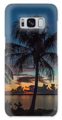 Twin Palms Sunrise Galaxy Case by Tom Claud