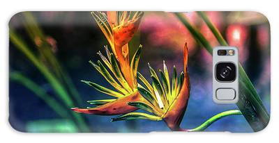 Vibrant Jungle Bird Galaxy Case