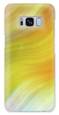 Wavy Colorful Abstract #4 - Yellow Green Orange Galaxy Case by Patti Deters
