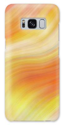 Wavy Colorful Abstract #5 - Yellow Orange Galaxy Case by Patti Deters