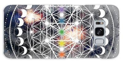 Galaxy Case featuring the digital art We Are Beings Of Light by Bee-Bee Deigner