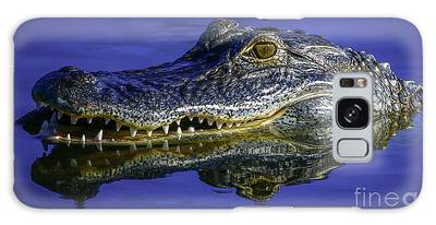 Galaxy Case featuring the photograph Wetlands Gator Close-up by Tom Claud