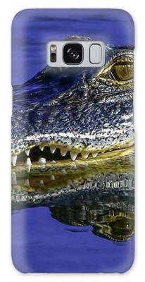 Wetlands Gator Close-up Galaxy Case by Tom Claud