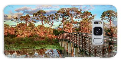 Galaxy Case featuring the photograph Winding Waters Boardwalk by Tom Claud