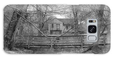 Wooden Bridge Over Stream - Waterloo Village Galaxy Case