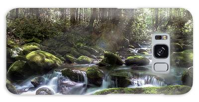 Galaxy Case featuring the photograph Woodland Falls by Patti Deters