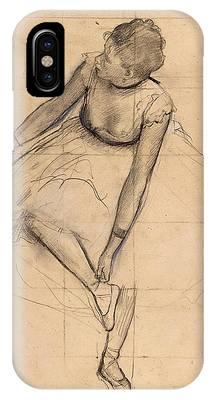 Dancer Adjusting Her Slipper IPhone Case