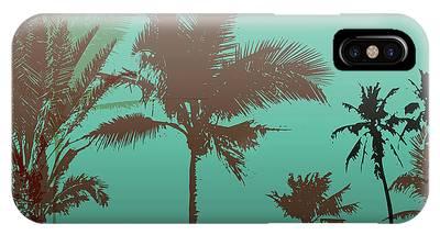 Hawaiian Sunset Digital Art iPhone Cases