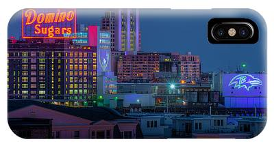 IPhone Case featuring the photograph Football Logos by Dennis Dame